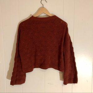 Rust Boho Boutique Sweater